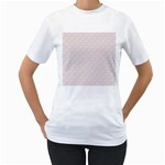 Wallpaper Abstract Pattern Graphic Women s T-Shirt (White) (Two Sided) Front