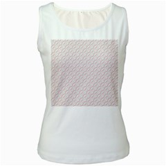 Wallpaper Abstract Pattern Graphic Women s White Tank Top by HermanTelo