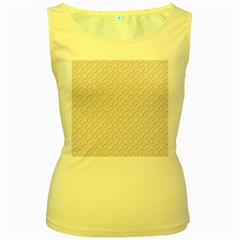 Wallpaper Abstract Pattern Graphic Women s Yellow Tank Top by HermanTelo