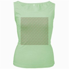 Wallpaper Abstract Pattern Graphic Women s Green Tank Top by HermanTelo