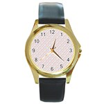 Wallpaper Abstract Pattern Graphic Round Gold Metal Watch Front