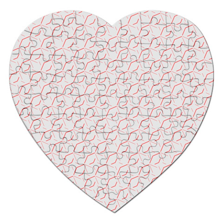 Wallpaper Abstract Pattern Graphic Jigsaw Puzzle (Heart)