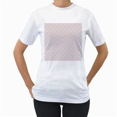 Wallpaper Abstract Pattern Graphic Women s T Shirt (white)  by HermanTelo
