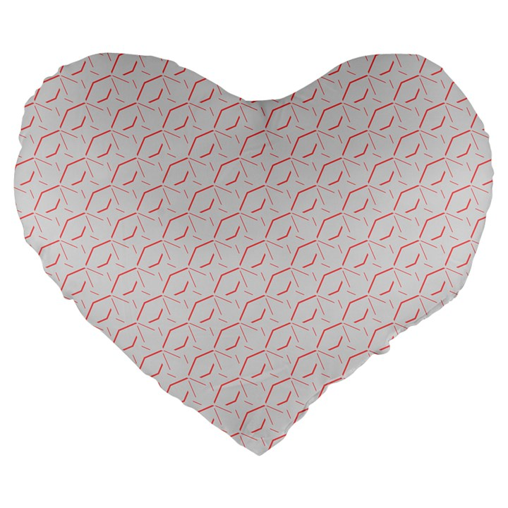 Wallpaper Abstract Pattern Graphic Large 19  Premium Flano Heart Shape Cushions