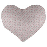 Wallpaper Abstract Pattern Graphic Large 19  Premium Flano Heart Shape Cushions Back