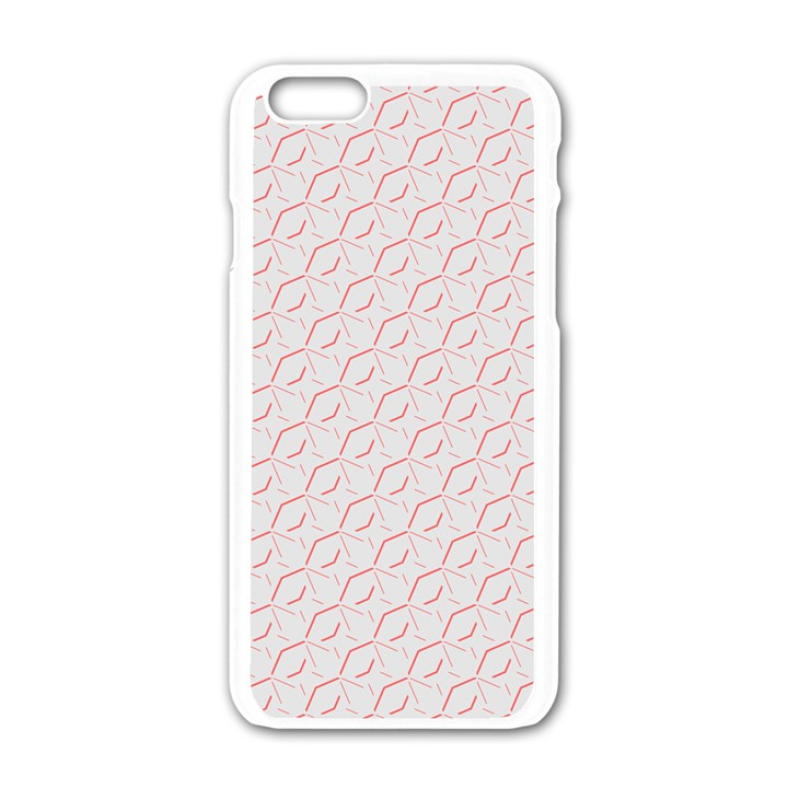 Wallpaper Abstract Pattern Graphic iPhone 6/6S White Enamel Case
