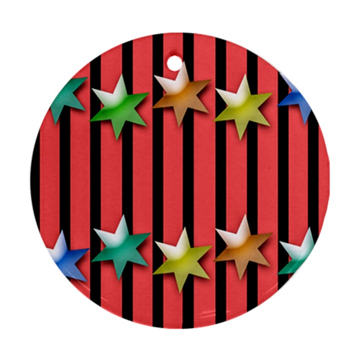 Star Christmas Greeting Ornament (Round)