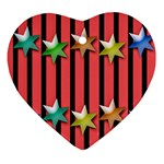 Star Christmas Greeting Ornament (Heart) Front