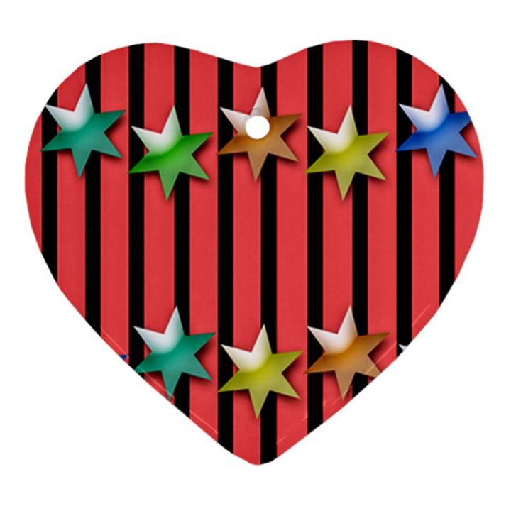 Star Christmas Greeting Ornament (Heart)