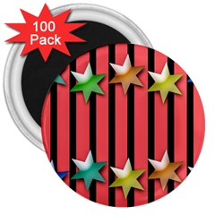 Star Christmas Greeting 3  Magnets (100 Pack) by HermanTelo