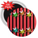Star Christmas Greeting 3  Magnets (100 pack) Front