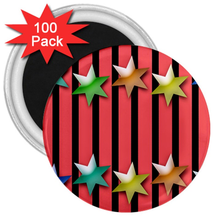 Star Christmas Greeting 3  Magnets (100 pack)