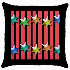 Star Christmas Greeting Throw Pillow Case (black) by HermanTelo