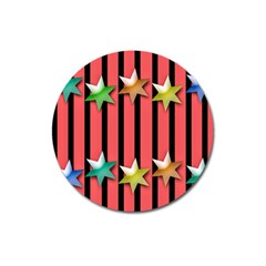 Star Christmas Greeting Magnet 3  (round) by HermanTelo