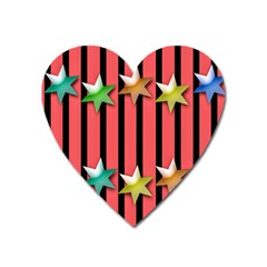 Star Christmas Greeting Heart Magnet by HermanTelo