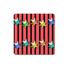 Star Christmas Greeting Square Magnet by HermanTelo