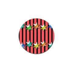 Star Christmas Greeting Golf Ball Marker (4 Pack)