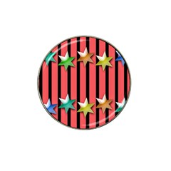Star Christmas Greeting Hat Clip Ball Marker (4 Pack) by HermanTelo