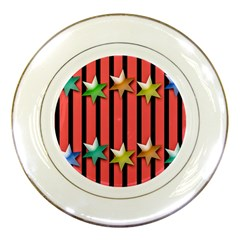Star Christmas Greeting Porcelain Plates by HermanTelo