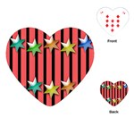 Star Christmas Greeting Playing Cards (Heart) Front