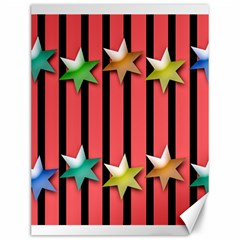 Star Christmas Greeting Canvas 12  X 16