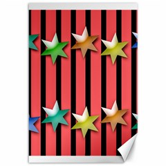 Star Christmas Greeting Canvas 12  X 18  by HermanTelo