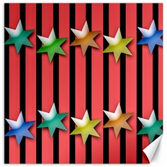 Star Christmas Greeting Canvas 20  X 20  by HermanTelo
