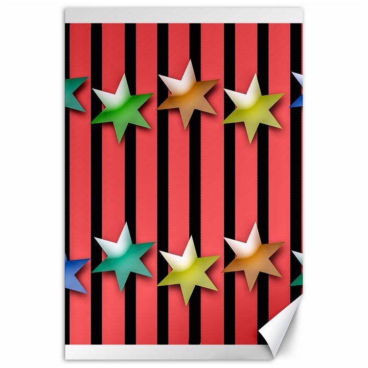 Star Christmas Greeting Canvas 20  x 30