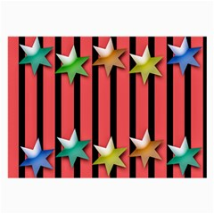 Star Christmas Greeting Large Glasses Cloth (2 Side) by HermanTelo
