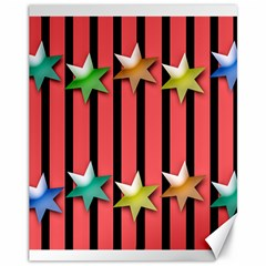 Star Christmas Greeting Canvas 11  X 14  by HermanTelo