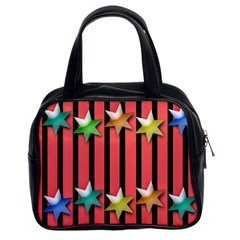 Star Christmas Greeting Classic Handbag (two Sides)