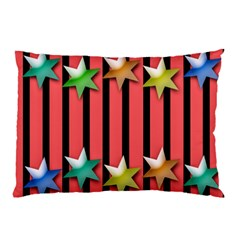 Star Christmas Greeting Pillow Case by HermanTelo