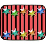 Star Christmas Greeting Double Sided Fleece Blanket (Mini)  35 x27  Blanket Front