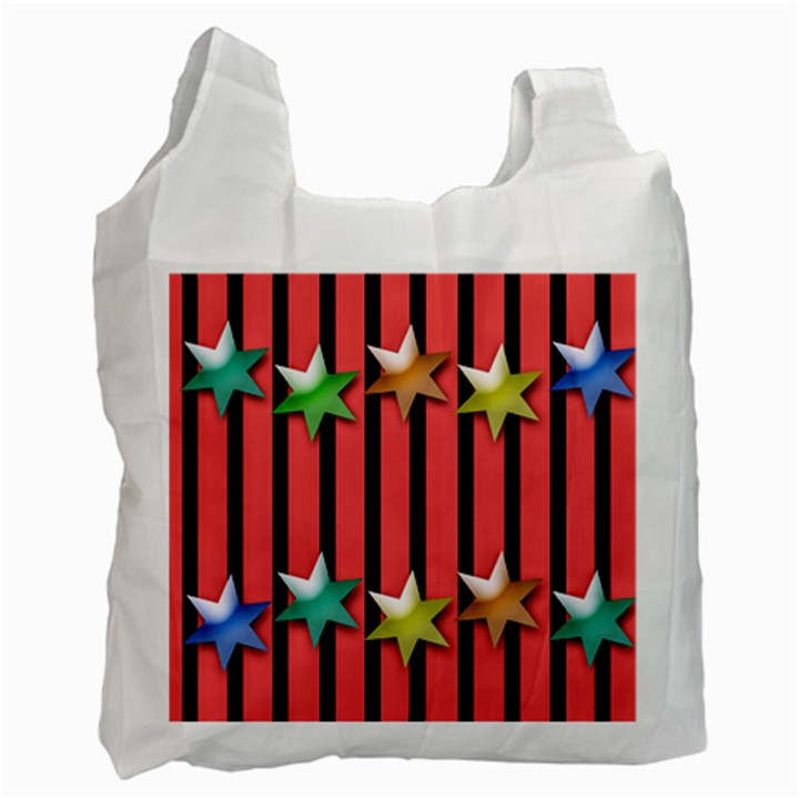Star Christmas Greeting Recycle Bag (Two Side)