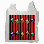 Star Christmas Greeting Recycle Bag (Two Side) Back