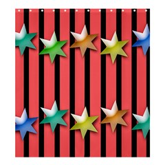 Star Christmas Greeting Shower Curtain 66  X 72  (large)