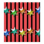 Star Christmas Greeting Shower Curtain 66  x 72  (Large)  58.75 x64.8  Curtain