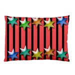 Star Christmas Greeting Pillow Case (Two Sides) Front