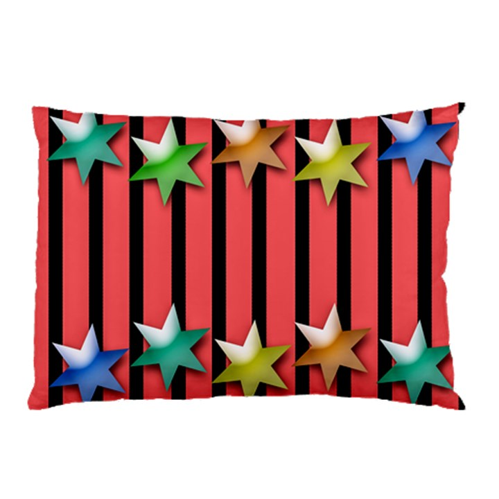Star Christmas Greeting Pillow Case (Two Sides)
