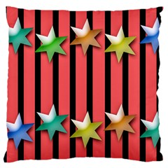 Star Christmas Greeting Large Cushion Case (one Side) by HermanTelo