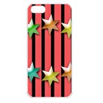 Star Christmas Greeting iPhone 5 Seamless Case (White) Front