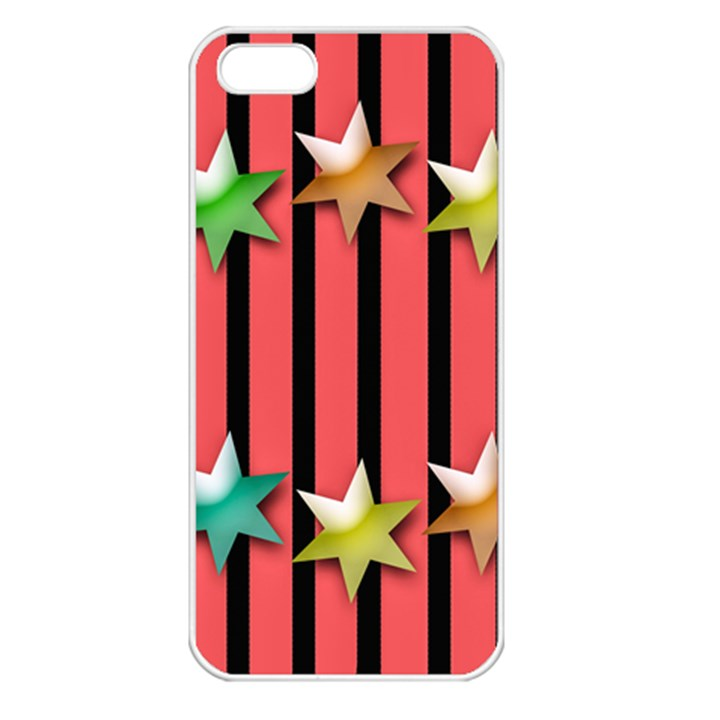 Star Christmas Greeting iPhone 5 Seamless Case (White)