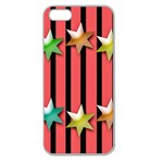 Star Christmas Greeting Apple Seamless iPhone 5 Case (Clear) Front