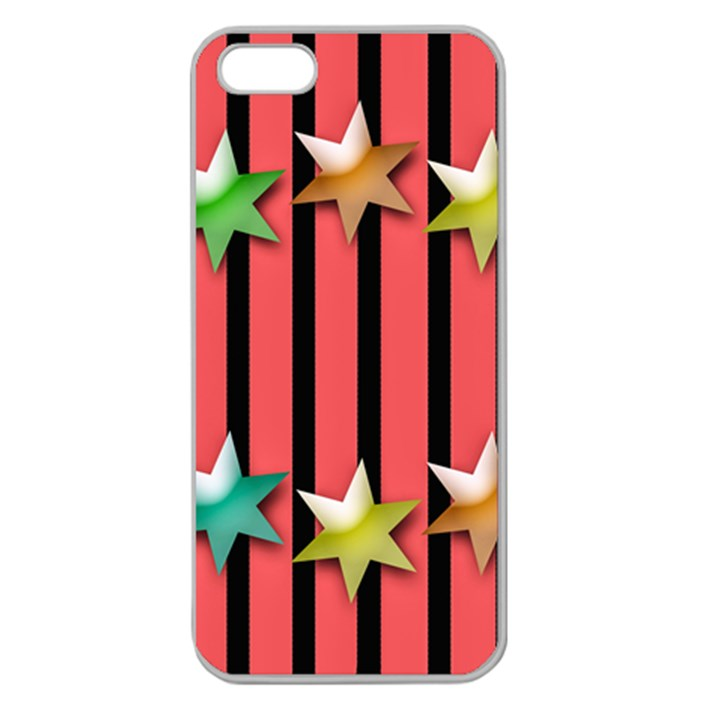 Star Christmas Greeting Apple Seamless iPhone 5 Case (Clear)