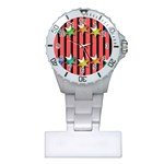 Star Christmas Greeting Plastic Nurses Watch Front