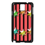 Star Christmas Greeting Samsung Galaxy Note 3 N9005 Case (Black) Front
