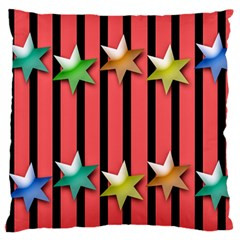 Star Christmas Greeting Large Flano Cushion Case (one Side) by HermanTelo