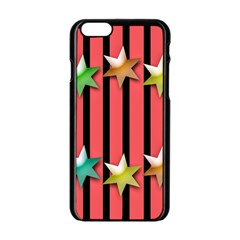 Star Christmas Greeting Iphone 6/6s Black Enamel Case