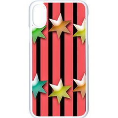 Star Christmas Greeting Iphone X Seamless Case (white)