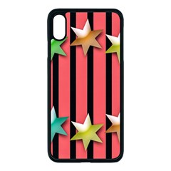 Star Christmas Greeting Iphone Xs Max Seamless Case (black)
